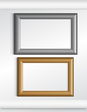 silver picture frame: Two photo frames