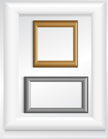 silver picture frame: Three photo frames