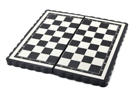 Chess board on the white background photo