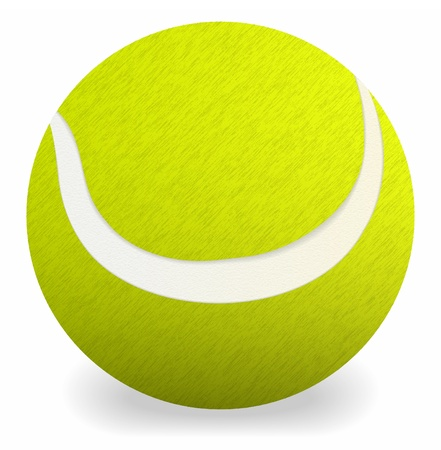 Tennis  ball on the white background Illustration