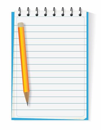 cuaderno espiral: Cuaderno de espiral forradas de pluma