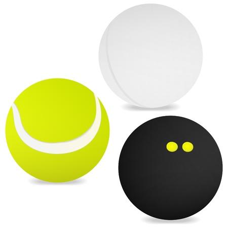 Three sport balls Vector