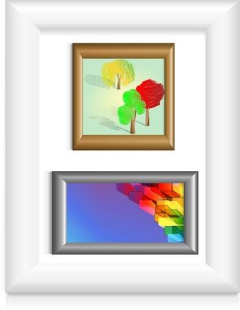 Set of photo frames Vector