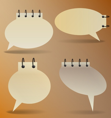 Old paper speech bubbles Vector