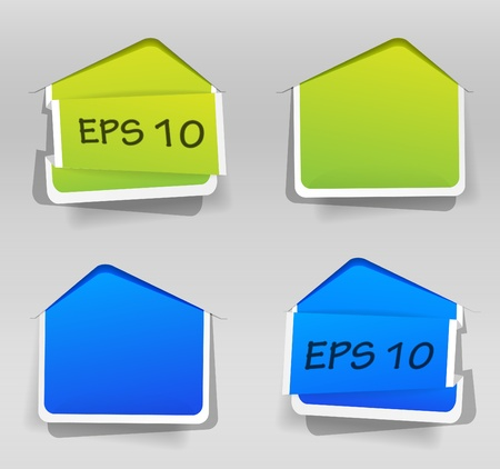 Set of labels Stock Vector - 10292170