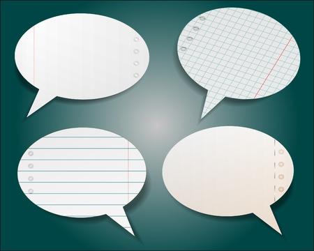 Speech bubble in notebook style