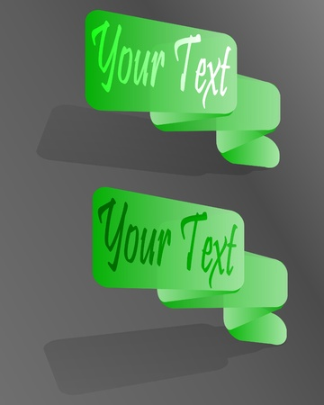 Two stickers Vector