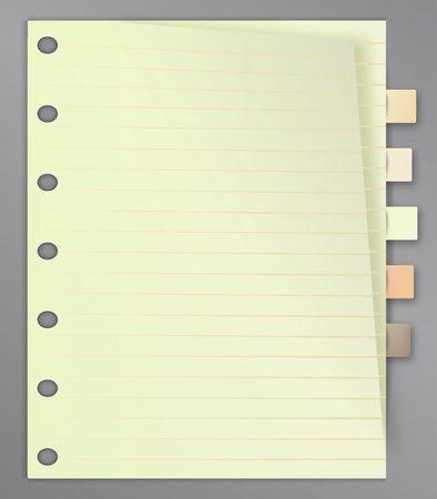 Blank line list with bookmarks Vector