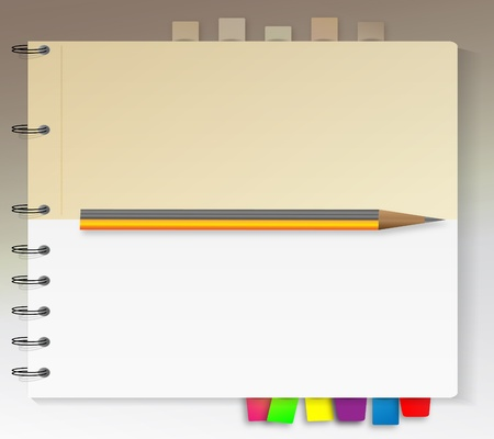 Two types of bookmarked notebook  Stock Vector - 9931470