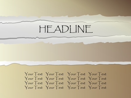 Torn paper with place for text Stock Vector - 11096541