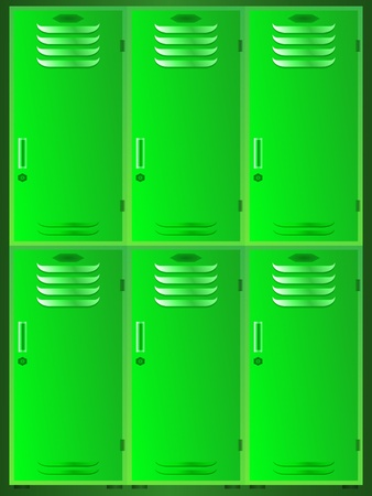 dressing room: school lockers