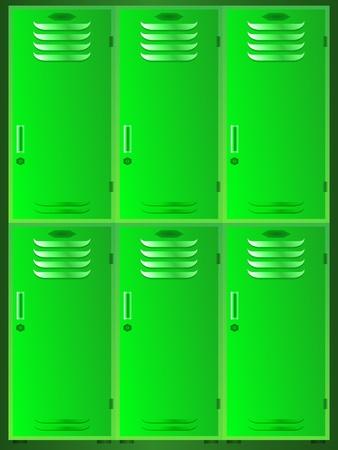 gym room: school lockers