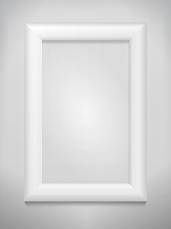 Empty photo frame on the wall Stock Vector - 10861779