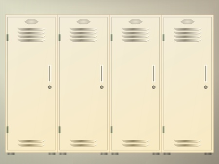 kleedkamer: Locker in de hal