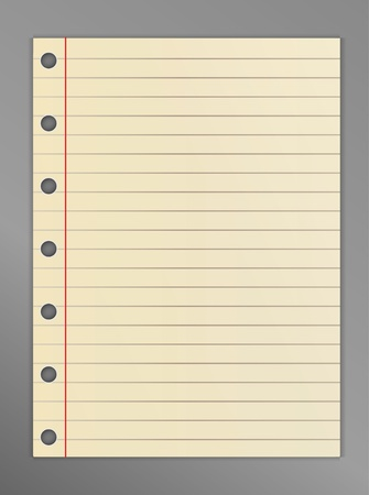 lined: Lined notebook list