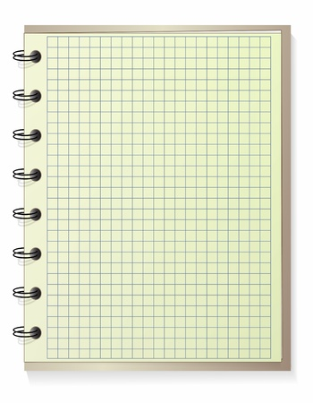 a sheet of paper: Notebook Illustration