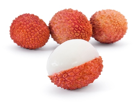 lychee: Lechee isolated on white background