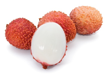 lychee: Lychee isolated on white background