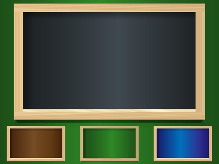 Set of chalk boards Vector