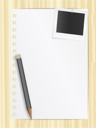 Notepad list Stock Vector - 10292149