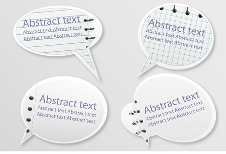 Speech bubbles in notepad style Vector