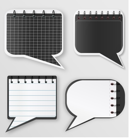 Set of notepad lists Stock Vector - 10860809