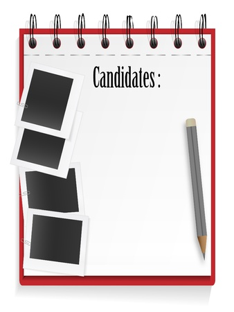List of the candidates Vector