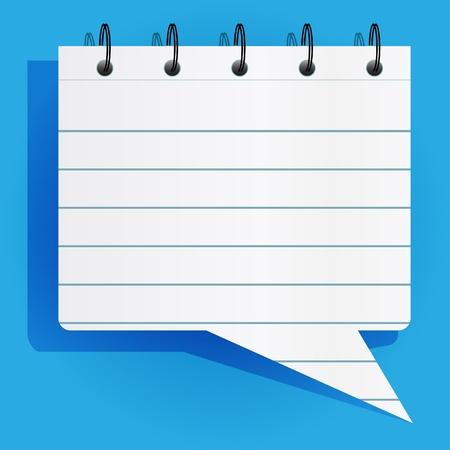 Notepad lijst in tekstballon stijl