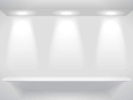 Shelve on the wall Vector