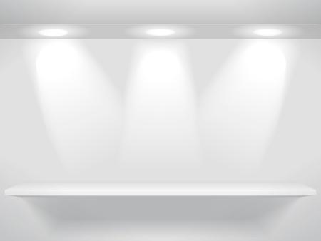etagere murale: Plateau et les lumi�res