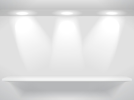 single shelf: Shelf  and the lights Illustration