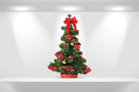 Christmas fir tree on the shelf Stock Photo - 10423074