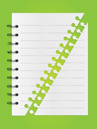 diary cover design: Spiral lined notepad list