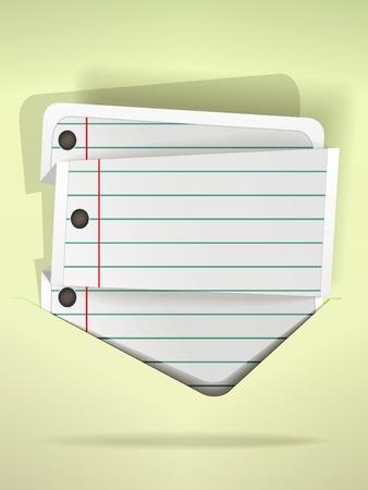 Notepad folded list in speech bubble  style Stock Vector - 10810871