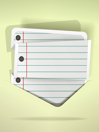 Notepad folded list in speech bubble  style Stock Vector - 10810871