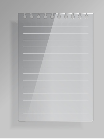 Notepad sheet from glass Stock Vector - 10897204
