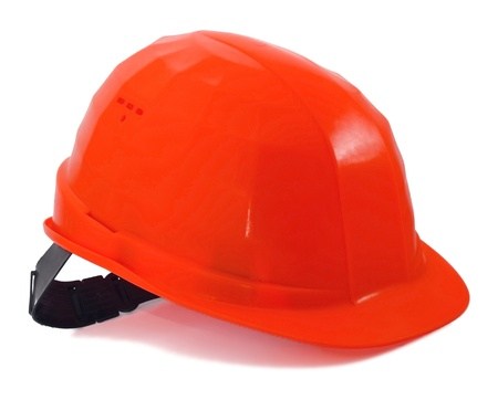 Construction yellow helmet on white background Stock Photo - 10954810