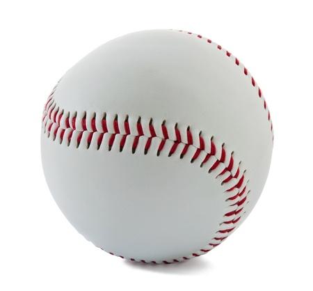beisbol: B�isbol pelota en el fondo blanco Foto de archivo