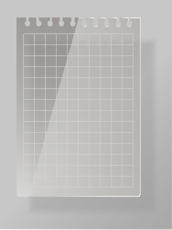 Notepad list from glass material Vector
