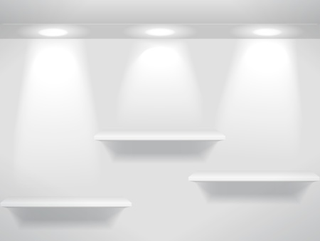 Three shelves Vector