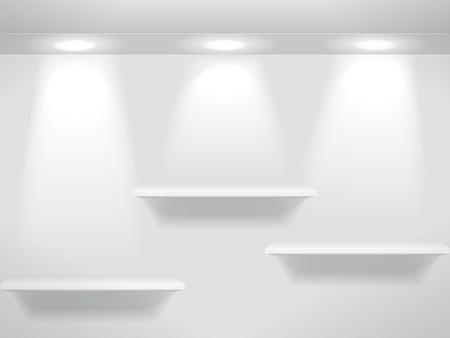 etagere murale: Trois tablettes