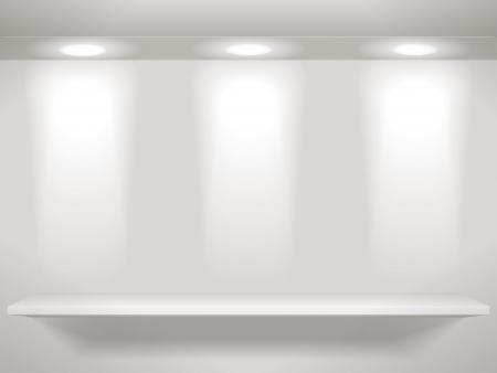 estanterias: Tres luces en la pared y un estante