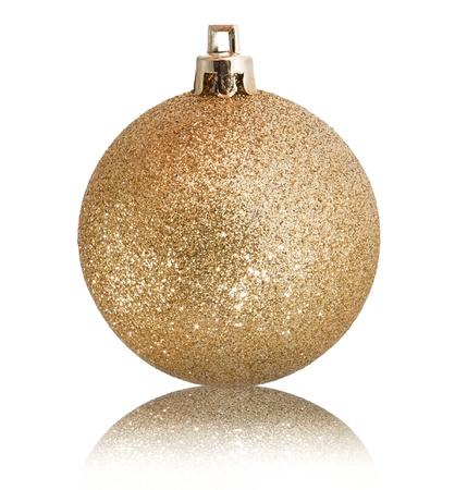 Golden christmas gold on white background photo