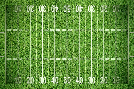 american football field: American football field on green grass Stock Photo