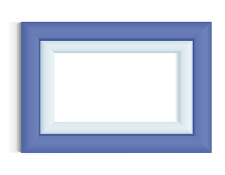 blue frame: Photo frame