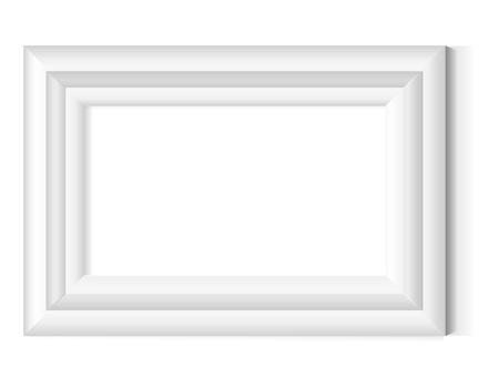 grunge photo frame: Bianco photo frame Vettoriali
