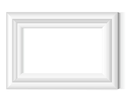 old picture frame: White photo frame