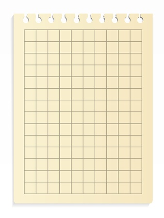 Notepad sheet Vector
