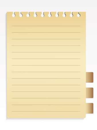 Notebook list Vector
