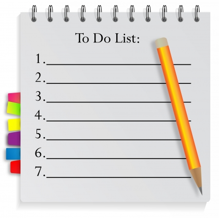 yellow notebook: To do List